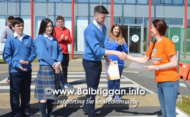 ardgillan community college awarded an amber flag 21may19_5