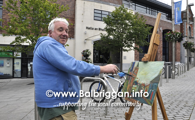 Plein Air Artists visit Balbriggan 23-Jun-19
