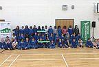 Students of Balbriggan Schools at the final blitz of the Schools Badminton Programme smaller