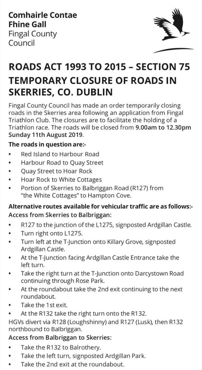 road_closures_balbriggan_skerries_aug19