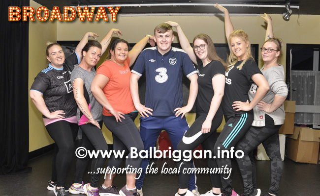 Performing Footloose; Ann McHale, Fiona Hogan, Holly Monks, Niamh Kirby, Siobhan Devoy, Laura Murphy, Edel Peters, Eoghan Richardson