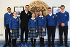 International track and field star David Gillick visits Ardgillan CC 15oct19 smaller