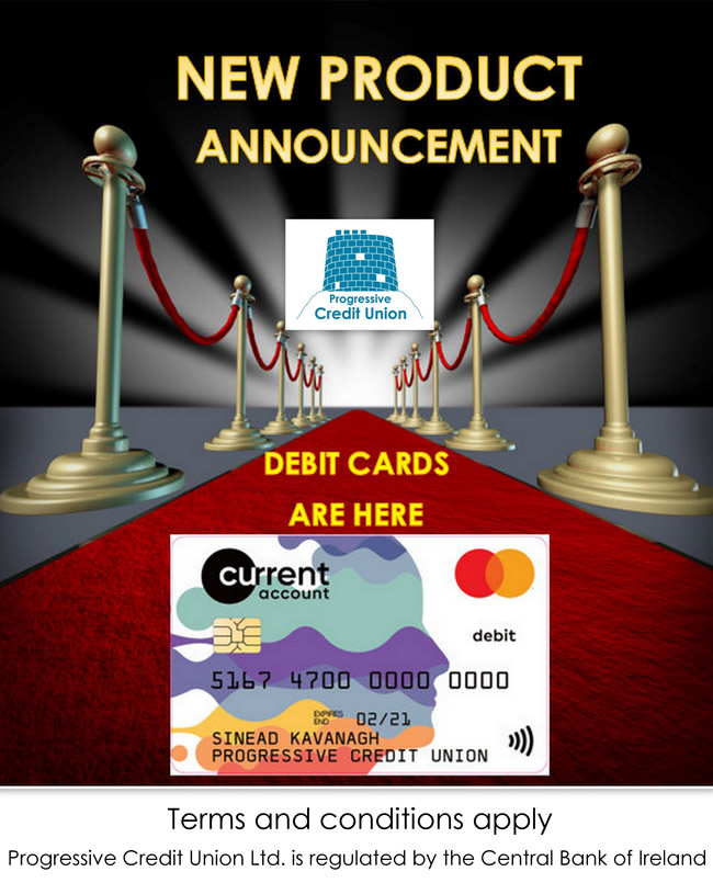 progressive credit union debit card current account and overdraft facility oct19