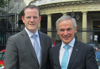 Alan Farrell TD with Minister Bruton