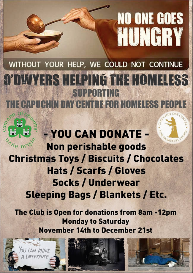 odwyers gaa help the homeless appear 2019
