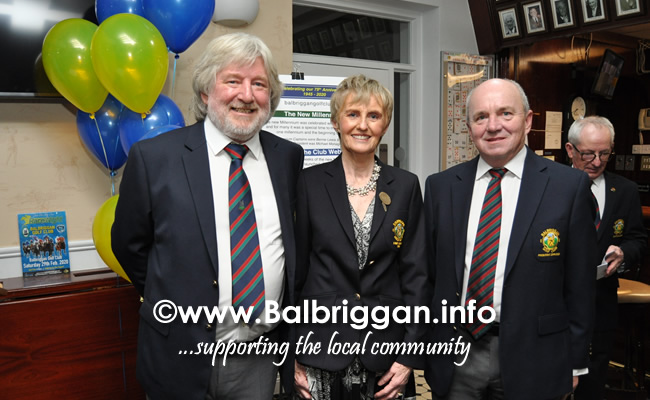 Balbriggan Golf Club 75th Anniversary Launch night 24-Jan-20