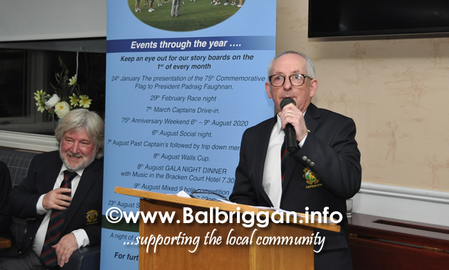 Balbriggan Golf Club 75th Anniversary Launch night 24-Jan-20_8