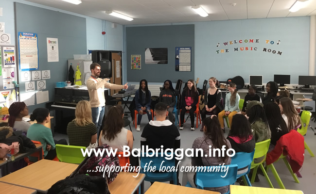 Choir of Bremore Educate Together Secondary School in Balbriggan led by Donal Kearney of the Fingal International Festival of Voices