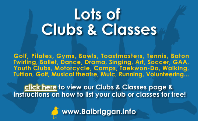 clubs and classes in balbriggan_ad
