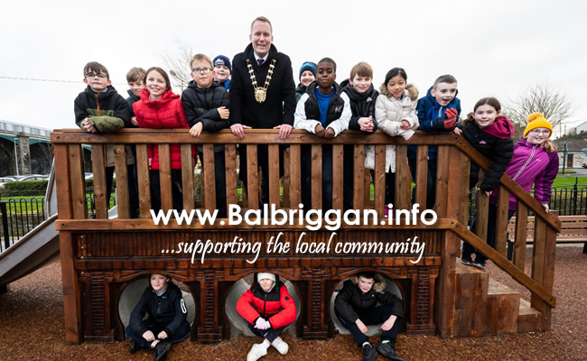 Fingal County Council opens two new playgrounds in Balbriggan feb20_2