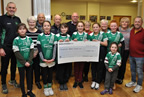 ODwyers present cheque from New Years Day Swim to Balbriggan Senior Citizens 04feb20 smaller