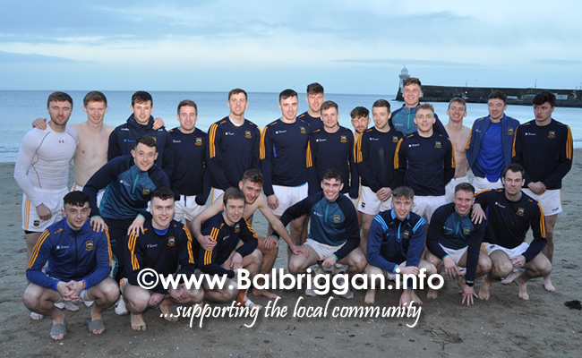 Tipperary take a dip in the sea at Balbriggan after a successful game against Louth 02feb20