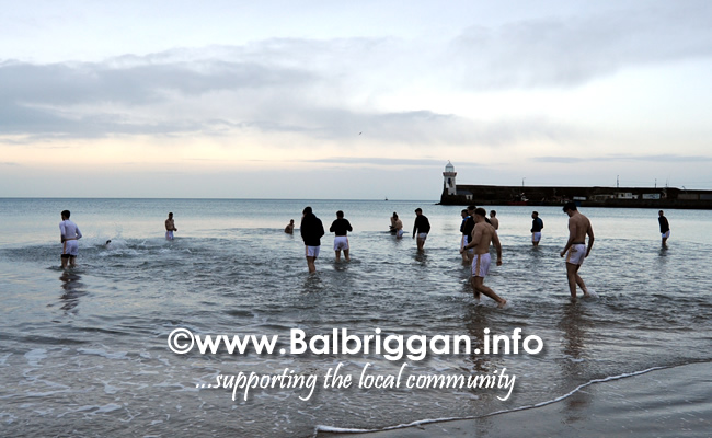Tipperary take a dip in the sea at Balbriggan after a successful game against Louth 02feb20_2