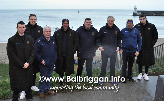 Tipperary take a dip in the sea at Balbriggan after a successful game against Louth 02feb20_6