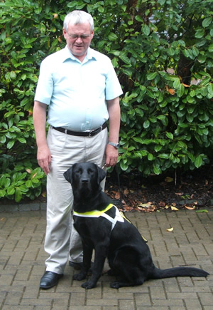 Gatsby the irish guide dog with Tom ONeill