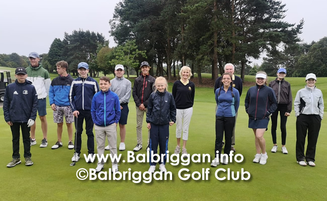 Lady Captains Prize to the Balbriggan Golf Club Juvenile Boys & Girls jul20