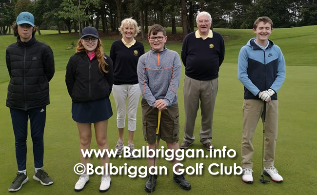 Lady Captains Prize to the Balbriggan Golf Club Juvenile Boys & Girls jul20_2