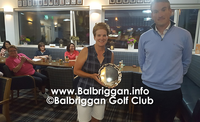 Balbriggan Golf Club Professional Nigel Howleys Prize to the Ladies aug20