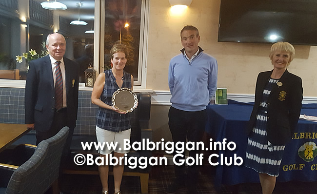 Balbriggan Golf Club Professional Nigel Howleys Prize to the Ladies aug20_2