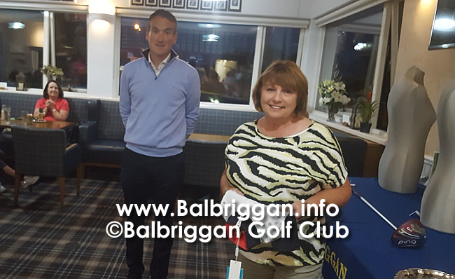 Balbriggan Golf Club Professional Nigel Howleys Prize to the Ladies aug20_3