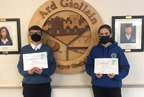 Double achievement for Ardgillan Community College students William and Marcela 12sep20 smaller
