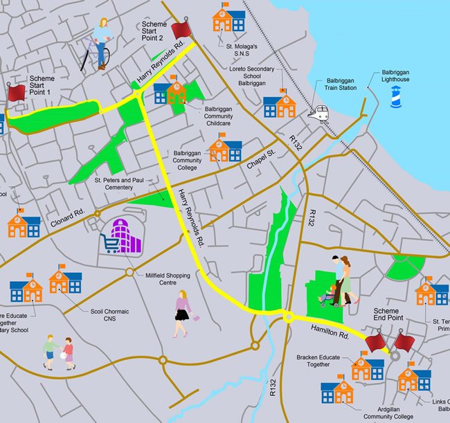 Harry Reynolds Pedestrian and Cycle Scheme Map