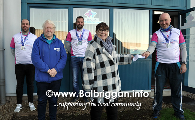 Rory, Darragh and Kevin raise €4,000 for Balbriggan Cancer Support Group 12dec20