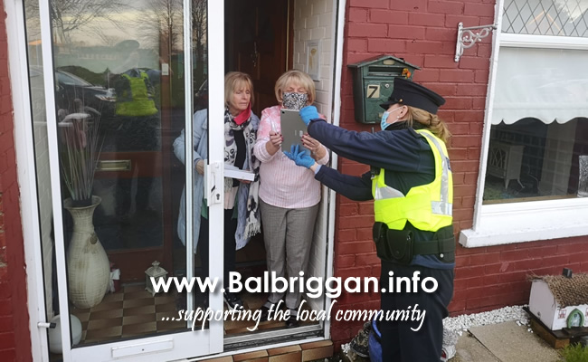 Balbriggan Community Gardai providing remote tablet visual communication