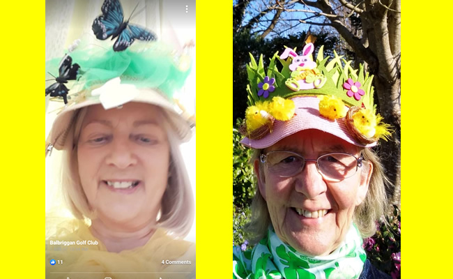 Easter bonnet competition at Balbriggan Golf Club apr21_2