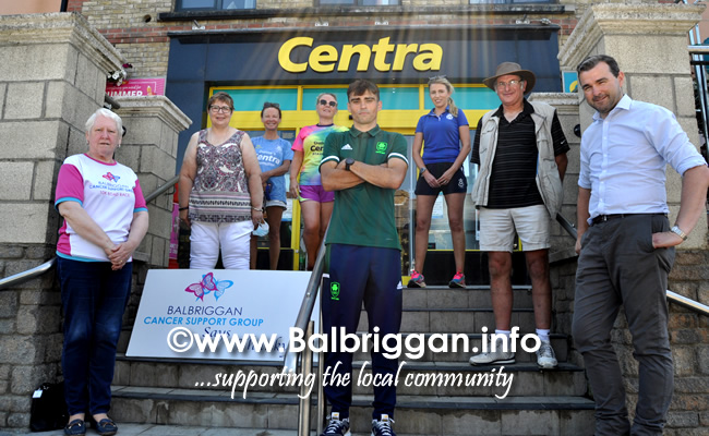 star of the sea athletics club present cheque to balbriggan cancer support group and Andrew Coscoran Olympic Fund Training 17jul21