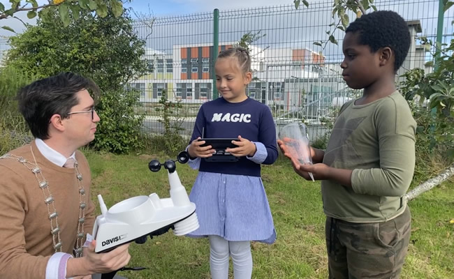 First Primary School in Fingal receives an automatic weather station